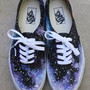 Custom Hand Painted Galaxy/Cosmic Vans Sneakers