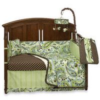 My Baby Sam Paisley Splash in Lime Crib Bedding and Accessories - buybuy BABY