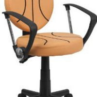 Amazon.com: Flash Furniture BT-6178-BASKET-A-GG Basketball Task Chair with Arms, Black/Orange: Home & Kitchen