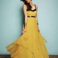 Free People Gianna?s Limited Edition Leather and Lace Gown at Free People Clothing Boutique