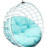 Amazon.com: Outback Company UBC-996 Urban Balance Sphere Rattan, White: Patio, Lawn &amp; Garden