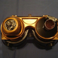 Steampunk Goggles with FlipUp Visor by ronanpatrickhayes on Etsy