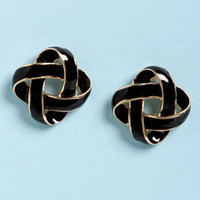 Feeling Loopy Black and Gold Earrings