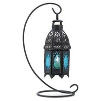 Amazon.com: Gifts & Decor Night Hanging Table Lantern Candle Holder, Sapphire: Home & Kitchen