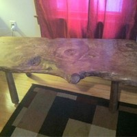 Beautiful slab wood coffee table