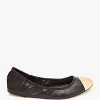 Cap Toe Ballet Flats