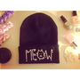 Meow Beanie by Elizabethaudreyy on Etsy
