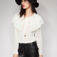 Montmartre ruffle blouse