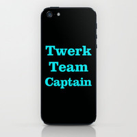 Twerk Team Captain iPhone & iPod Skin by productoslocos | Society6