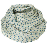 Blue Polkadot Snood - Scarves - Accessories - Topshop
