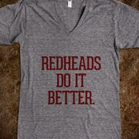 Redheads do it better-Unisex Athletic Grey T-Shirt