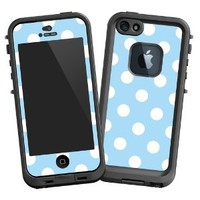 Amazon.com: White Polkadot on Baby Blue &quot;Protective Decal Skin&quot; for LifeProof 5 Case: Electronics