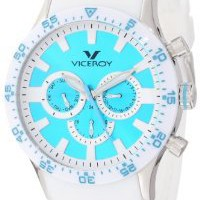 Viceroy Women's 432142-35 Fun Colors Stainless Steel Day Date Sunray Dial Soft White Rubber Watch: Watches: Amazon.com