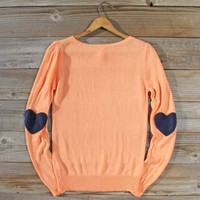 Mended Patches Sweater, Sweet Cozy Lace Tops
