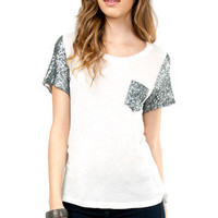 Embellish Me Pocket T-Shirt $26