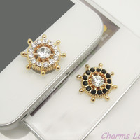 1PC Bling Crystal Wheel Alloy iPhone Home Button by CharmsLand