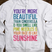 You're More Beautiful (Zip up Hoodie) - Ladies & Gentlewoman