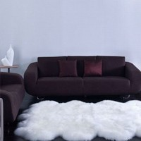 Amazon.com: Genuine Sheepskin Rug Four Pelt Natural White 4x6 NEW: Furniture & Decor