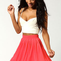 Tracy Chiffon and Crochet Skirt