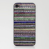 Black Pattern Phone Skin by Romi Vega | Society6
