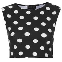 Spot Stretch Crop Tee - Jersey Tops - Clothing - Topshop USA