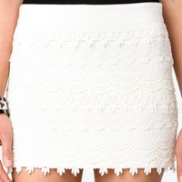 Scalloped Crochet Skirt | FOREVER 21 - 2019571084
