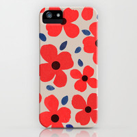 Dogwood_Red iPhone Case by Garima Dhawan | Society6