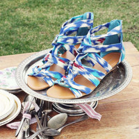 Ikat Gladiator Sandals, Sweet Country Inspired Shoes