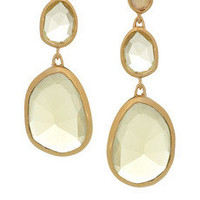 Monica Vinader | Siren 18-karat gold-vermeil, quartz and citrine earrings  | NET-A-PORTER.COM