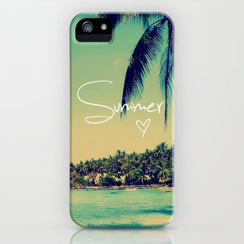 Summer Love Vintage Beach iPhone Case by RexLambo | Society6