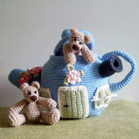 Buy Bears & Teapot House pattern - AmigurumiPatterns.net