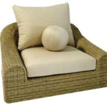 One Kings Lane - Michael Taylor - Jennifer Outdoor Wicker Lounge Chair