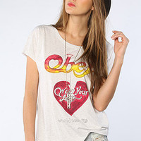 Obey The Wear Your Love Triblend Dolman Tee in Vintage White : Karmaloop.com - Global Concrete Culture