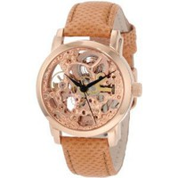 Akribos XXIV Women's AKR431RG Rose Gold Skeleton Automatic Watch
