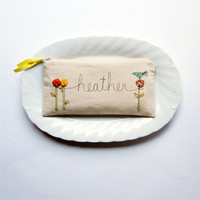 whimsical personalized valentine clutch MADE TO by mamableudesigns