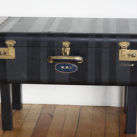 Suitcase Table Storage Bench Ottoman Coffee Table by WeWhoWander