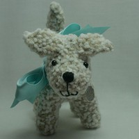 Dog knitted amigurumi puppy dog softie by TheHunnyBunnyCompany