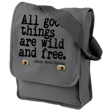 WILD AND FREE Messenger Bag by happyfamily on Etsy