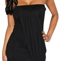 Glorious Lover (Black)-Great Glam is the web&#x27;s top online shop for trendy clubbin styles, fashionable party dress and bar wear, super hot clubbing clothing, stylish going out shirt, partying clothes, super cute and sexy club fashions, halter and tube tops