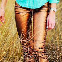 Love To Love Shimmer Jeans: Bronze | Hope&#x27;s