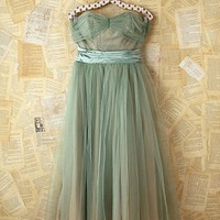 Free People Vintage Green Tulle Dress
