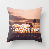 California Throw Pillow by thecrazythewzrd | Society6