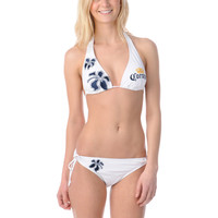 Corona Swim 5 Point White Tie Side Bikini Bottom