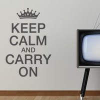 Quote Wall Decal Quote - Keep Calm and Carry On - Wall Decals | My Wall Decal Shop | Decorating Ideas &amp; Wall Stickers
