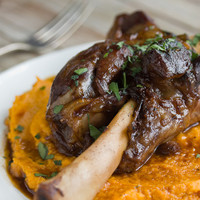 Recipe:  Braised Lamb Shanks & Root Vegetable Puree