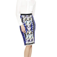 Lace Blue H Skirt by Peter Pilotto Now Available on Moda Operandi