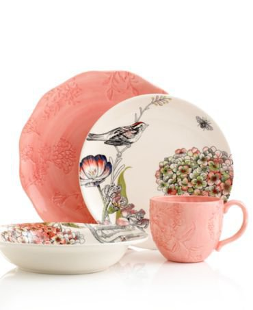 Edie Rose by Rachel Bilson Dinnerware, Hydrangea Mix and Match Collection - Casual Dinnerware - Dining &amp; Entertaining - Macy&#x27;s
