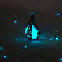 Mermaid's Magic Ocean Blue Caged Pendant with Glowing by Clover13