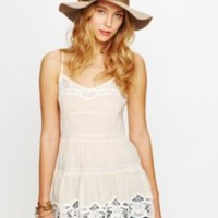 Free People Vicose Voile Tiered Babydoll Cami at Free People Clothing Boutique
