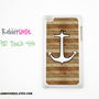 Nautical Anchor on Wood iPod touch 4th Generation by rabbitsmile